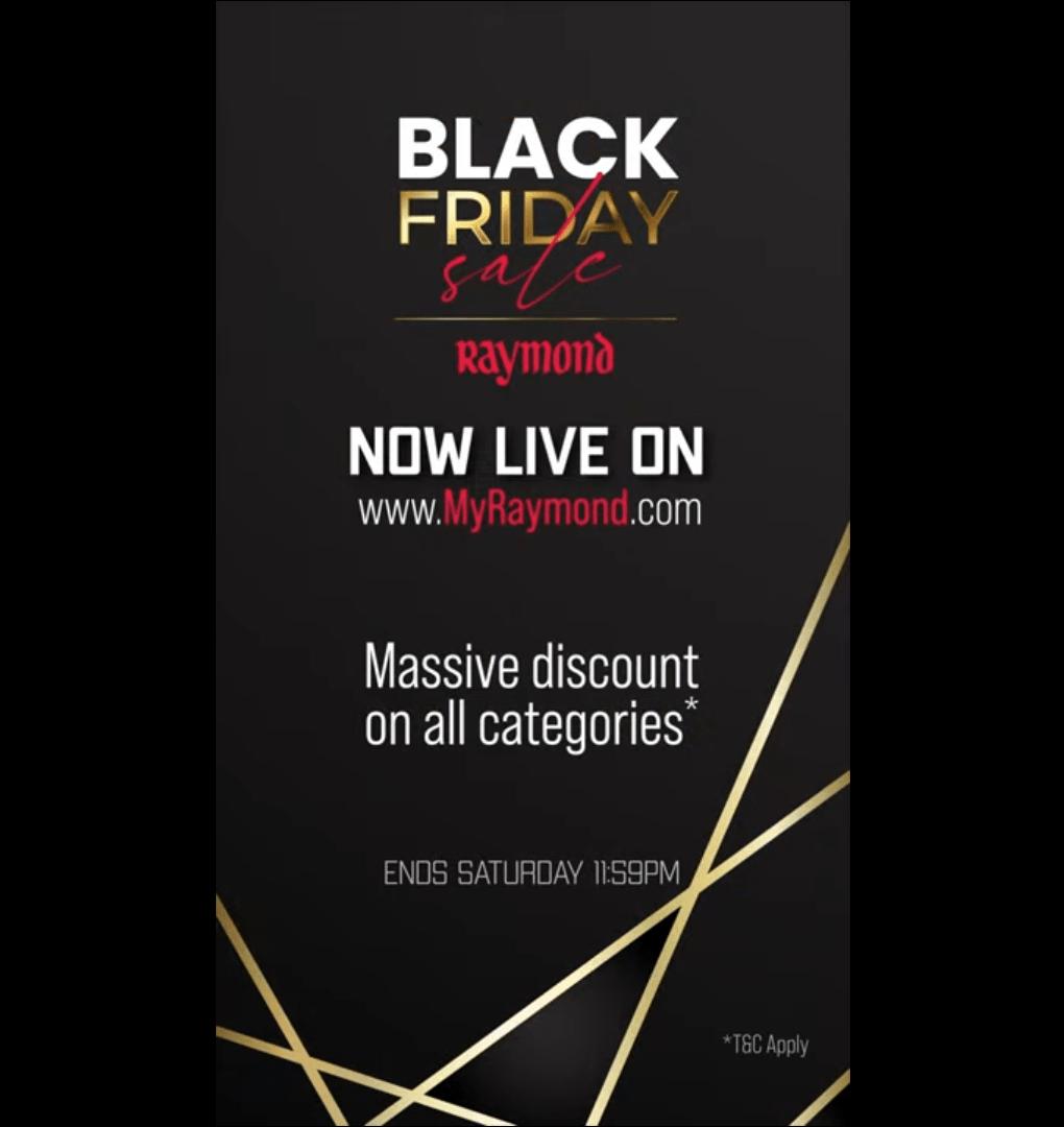 Raymond - Teaser Video Black Friday