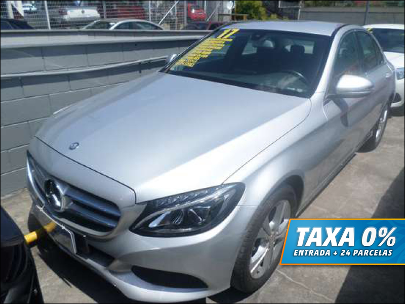 MERCEDES-BENZ C 180 2017 - 1.6 CGI 16V TURBO FLEX 4P AUTOMÁTICO