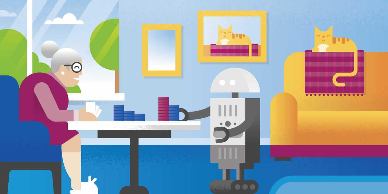 health care robots header robot doing tasks