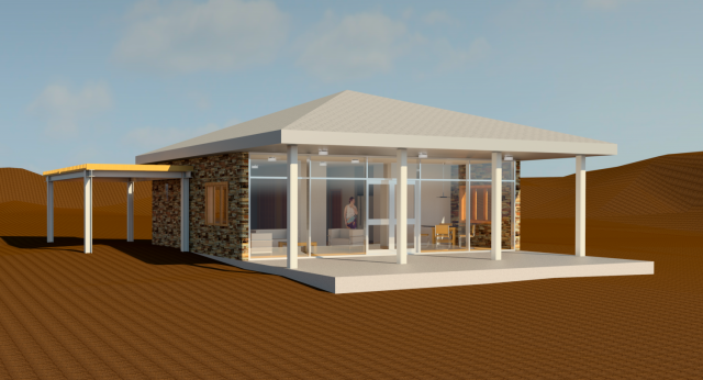 Revit beach house design for Autodesk online home design