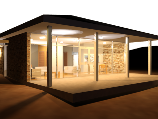 3ds Max Beach House Rendering