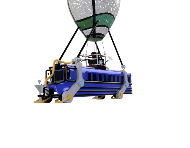Fortnite battle bus front