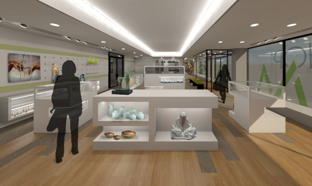 Memorial art gallery store redesign rochester ny for Interior designers rochester ny