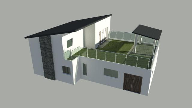 Autocad house for Cad house