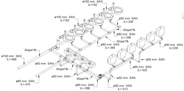 plumbing isometric