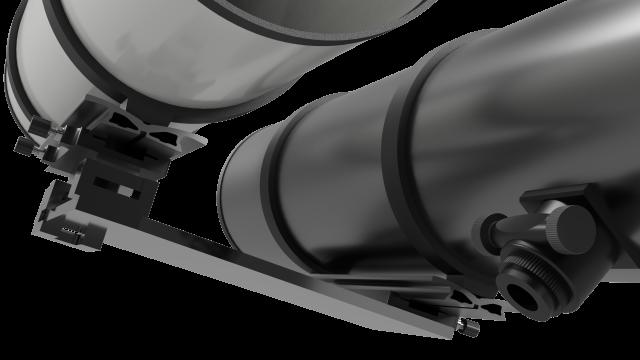 Iridium flare gleams above the isaac newton telescope on its th