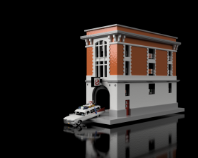 Ghostbusters Firehouse and car