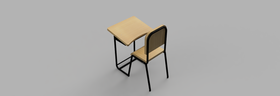 Concept of an ambidextrous student desk