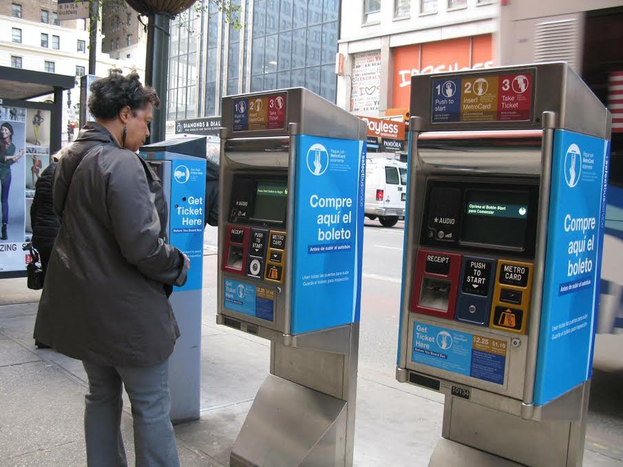 Photo Credit: Paul Supawanich, photo of: NYC fare collection machines