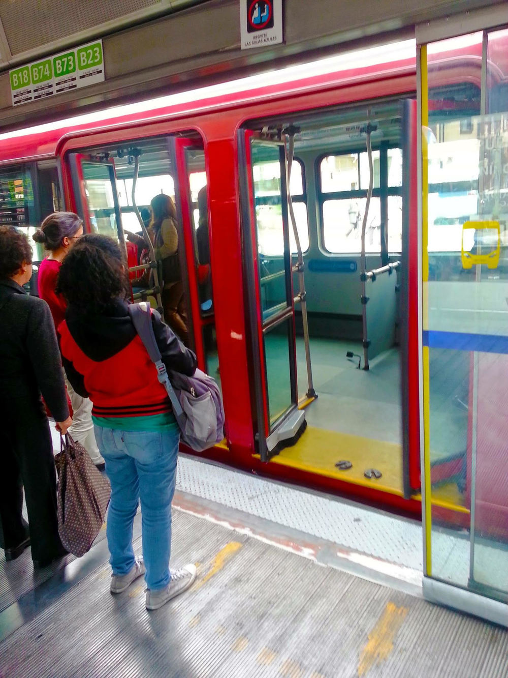Photo credit: Ed Meng, photo of: TransMilenio bus in Bogota, Columbia