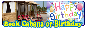 Book a Cabana or Birthday Party at Daytona Lagoon!