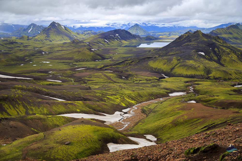 View over Laugavegur trail in Iceland