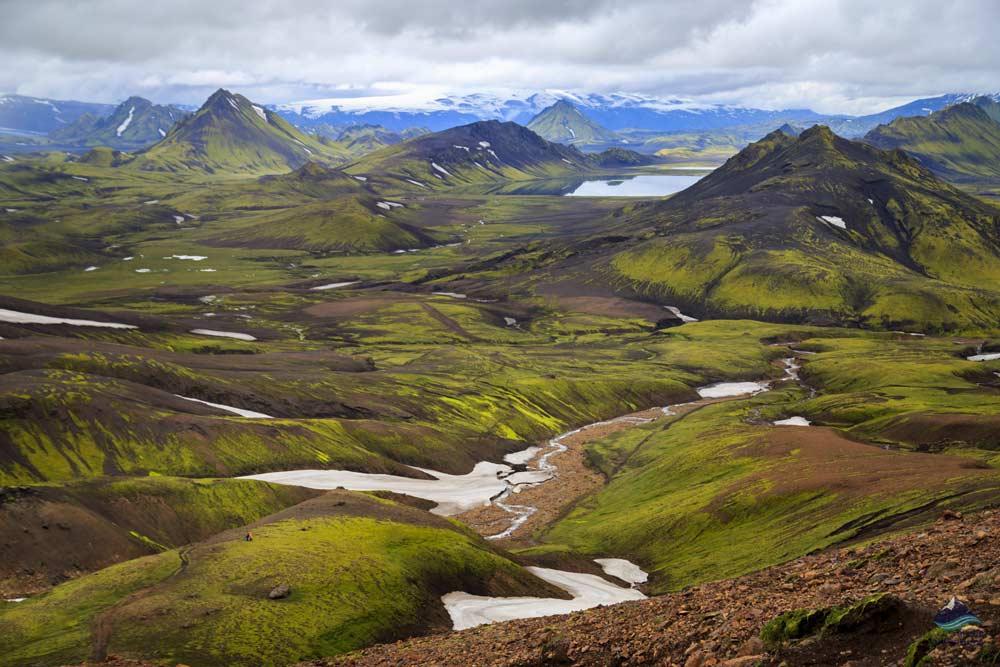 Laugavegur Trail starts in Landmannalaugar