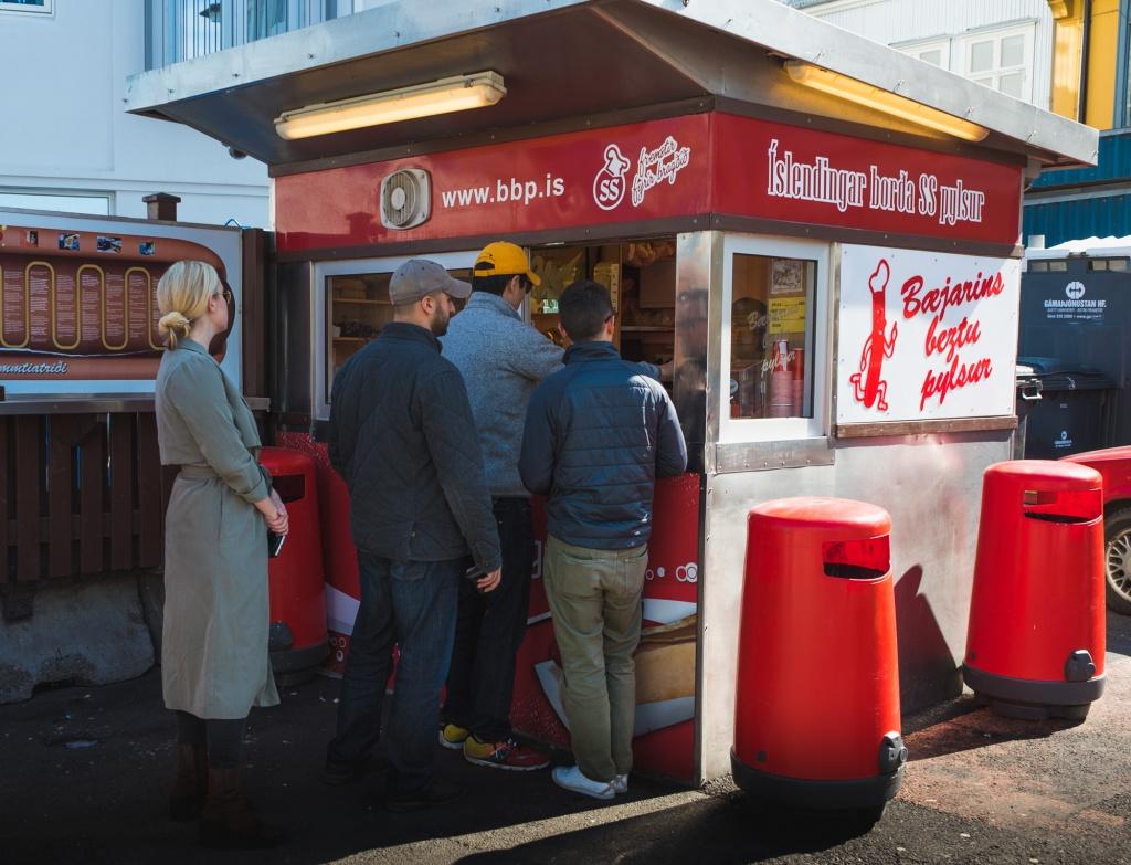 Most popular hot dog stand in Reykjavik