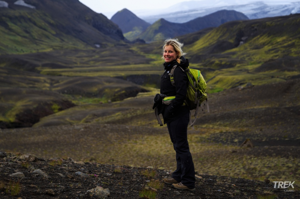 A view on the Laugavegur trail Iceland