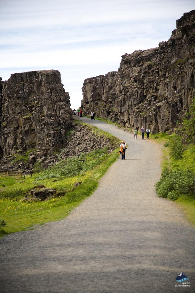 Lögberg lava formations at Thingvellir national park Iceland