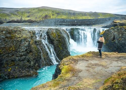 Icelandic waterfall near Landmannalaugar