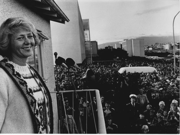First Female president Iceland