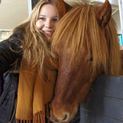 Selfie with an Icelandic Horse in Iceland