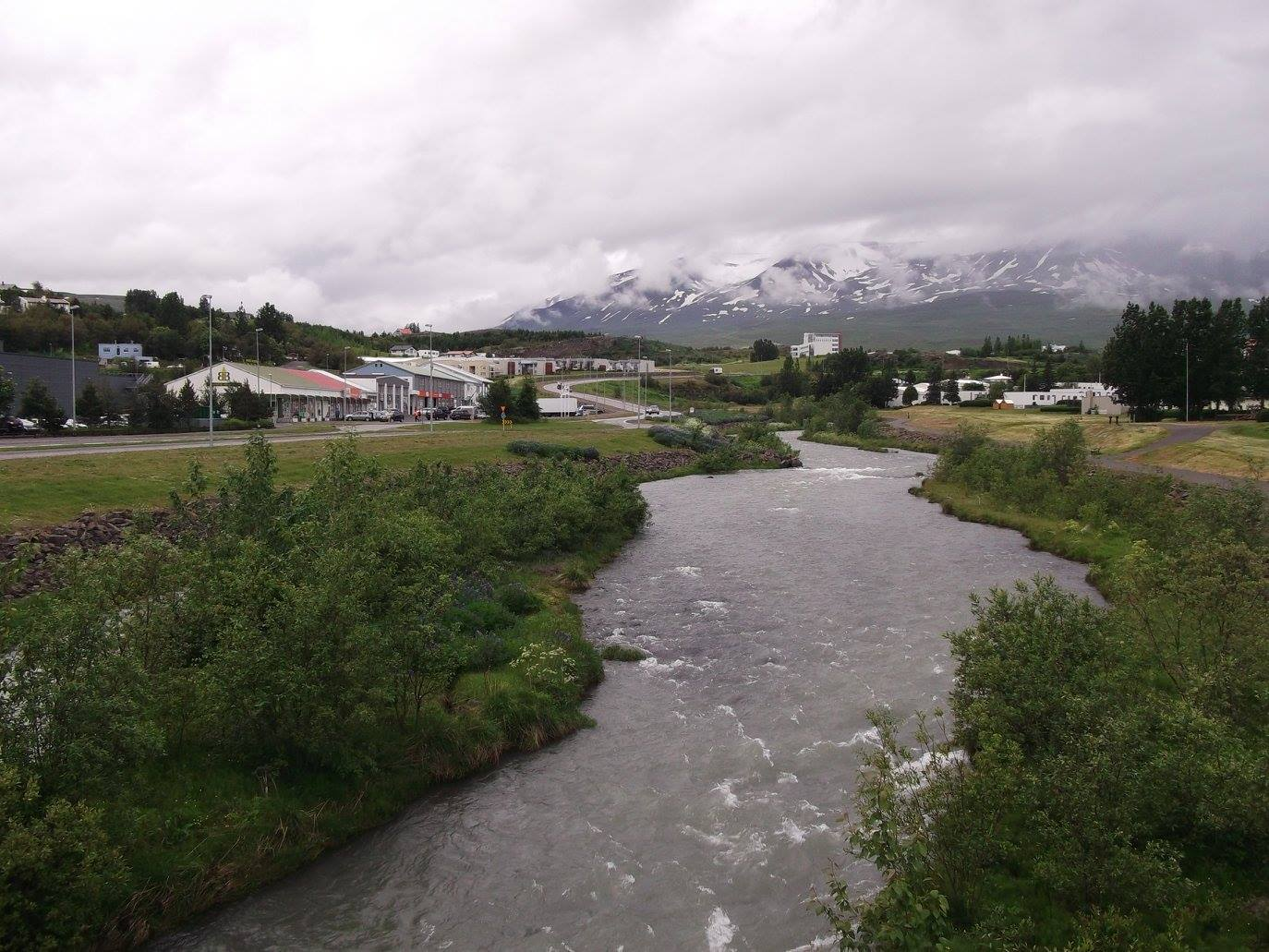 Glera river in Akureyri North Iceland