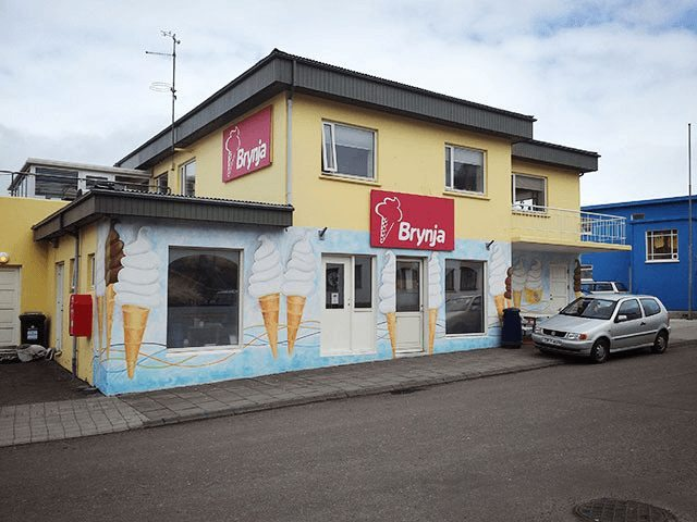 Brynja ice cream shop at Akureyri