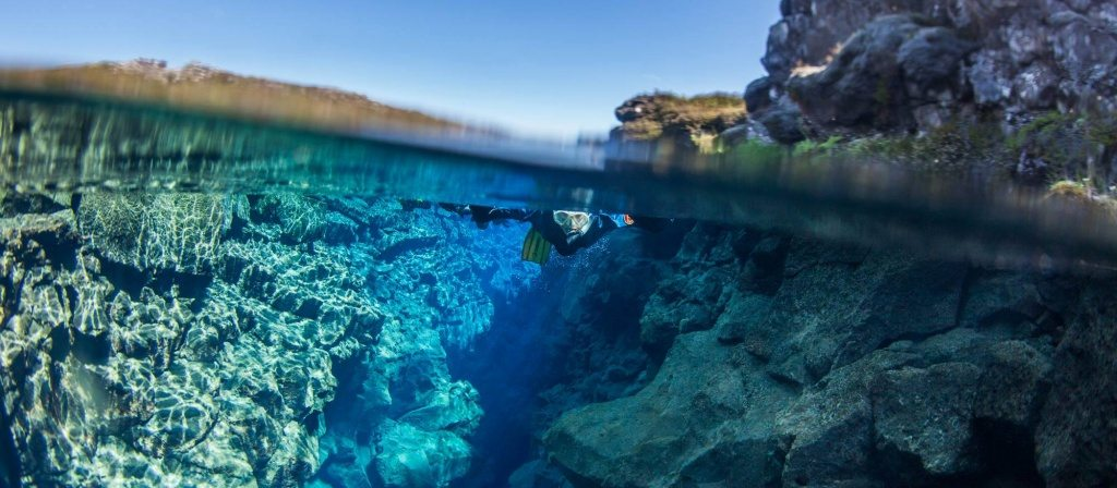 Snorkeling in Silfra Fissure