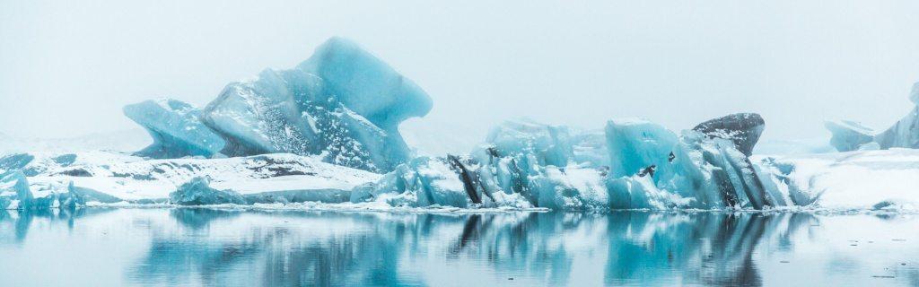 Ice in Jokulsarlon glacier lagoon
