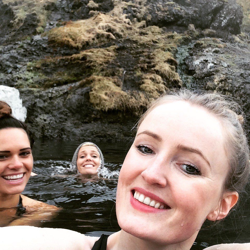selfie-time in a hot pool Iceland