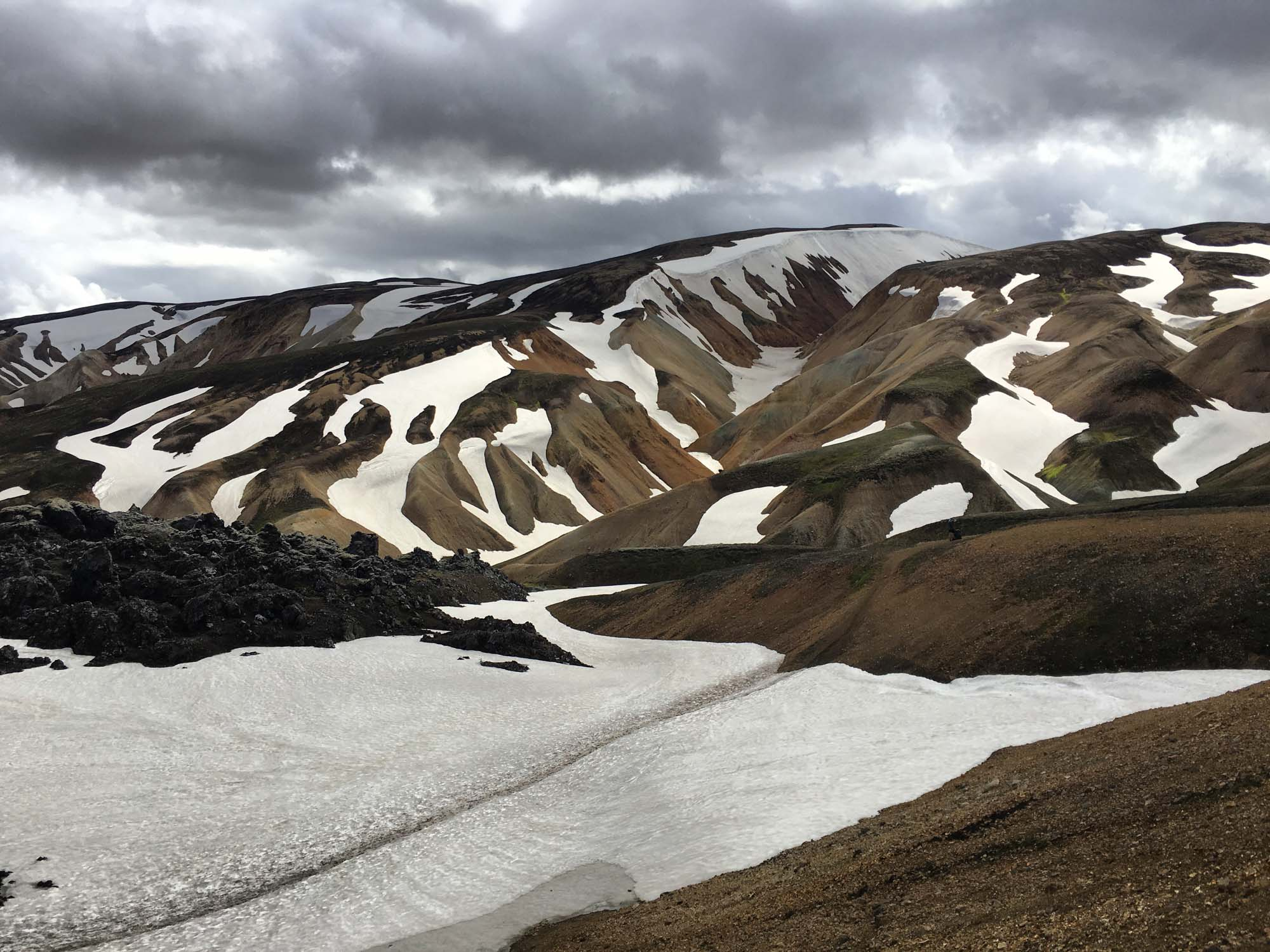 Icelandic mountains views at Landmannalaugar