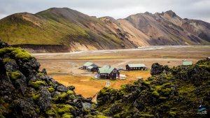 Landmannalaugar-Laugavegur-hike-huts-Iceland campground arctic adventures