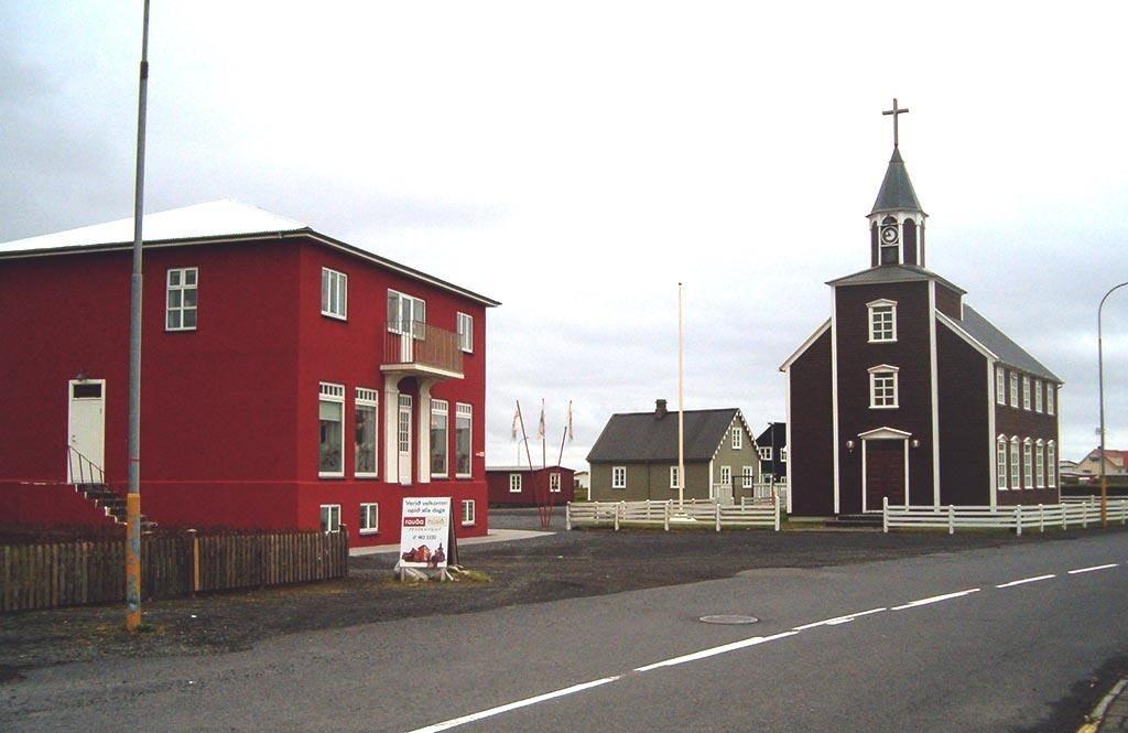 Eyrarbakki red house in Iceland