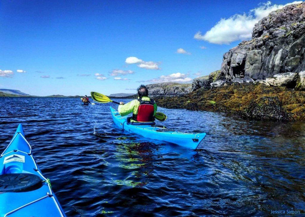 Sea kayaking in Hvalfjordur Iceland