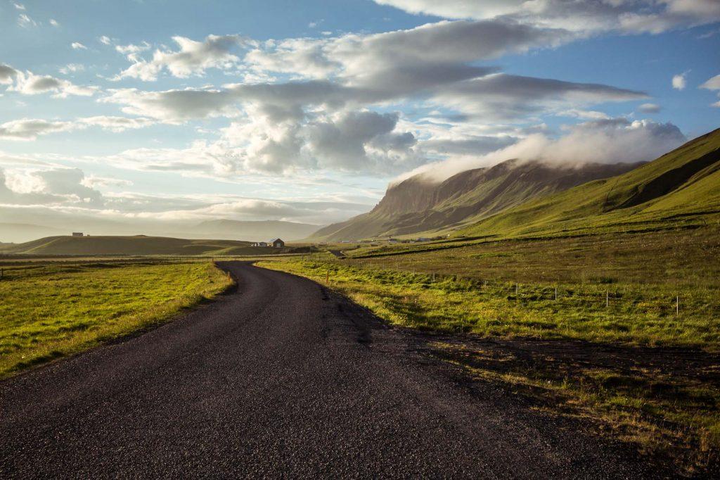 icelandic road summer day
