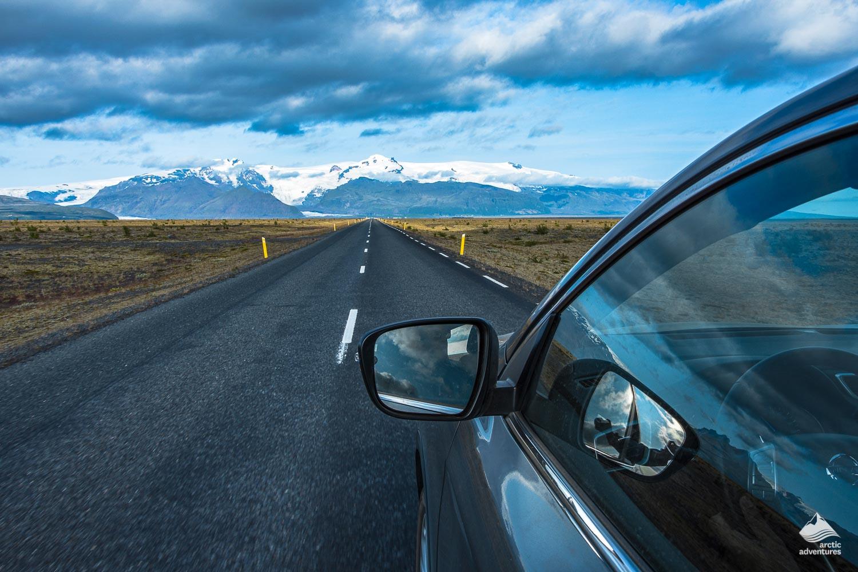 Car on the Icelandic road