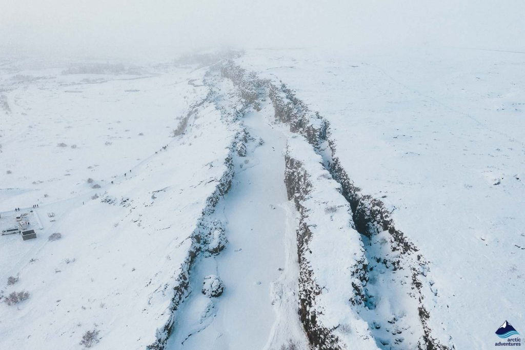 The rift valley in Thingvellir in winter