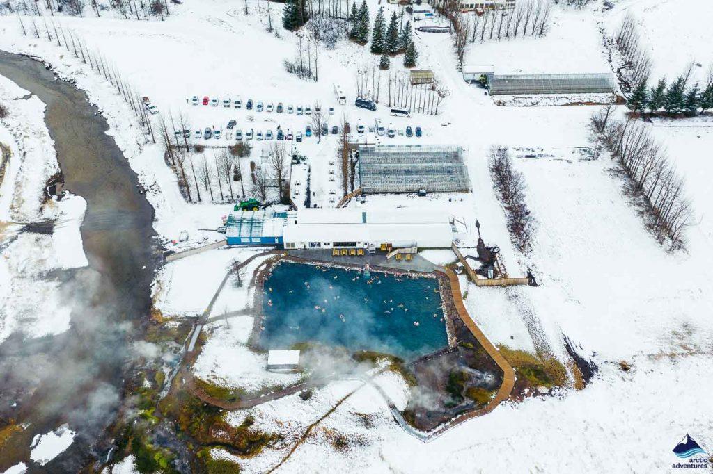 The Secret Lagoon in winter