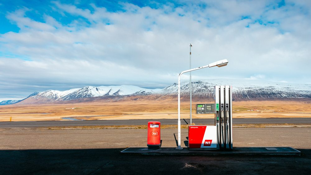 Abandoned petrol station in Iceland