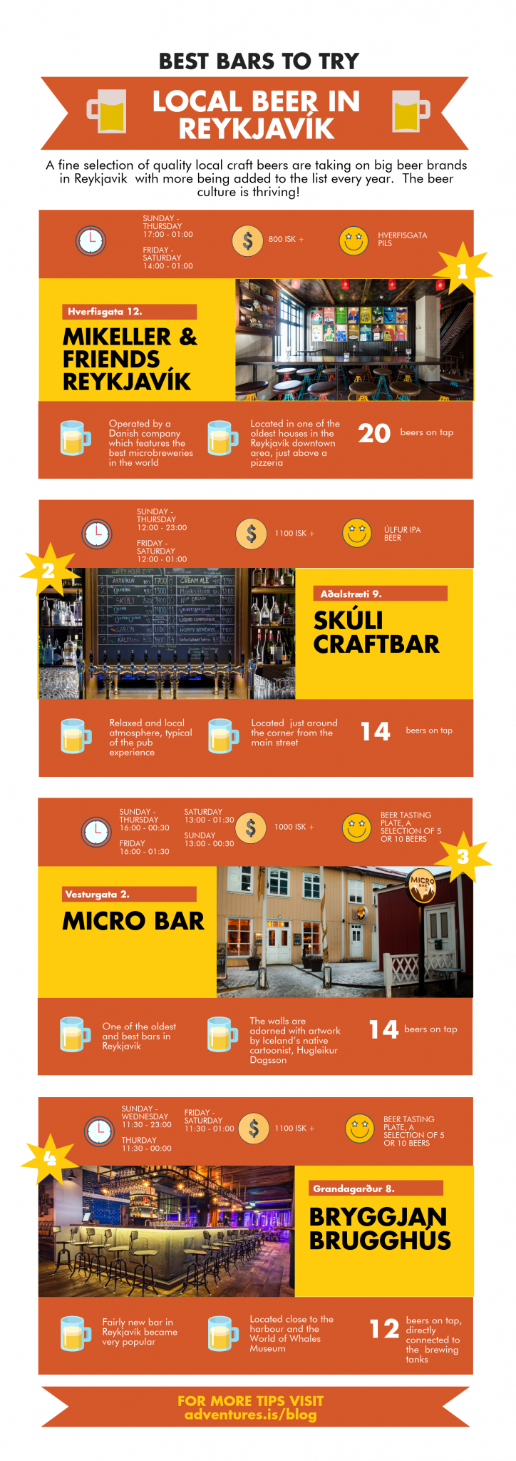 Best bars in Reykjavik infographic