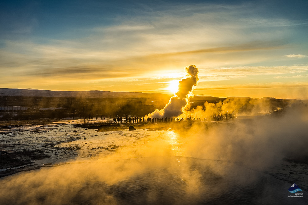 Strokkur geyser on the Golden Circle