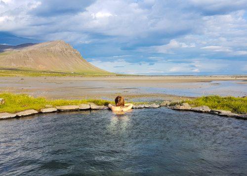 Geothermal pool in the West fjords
