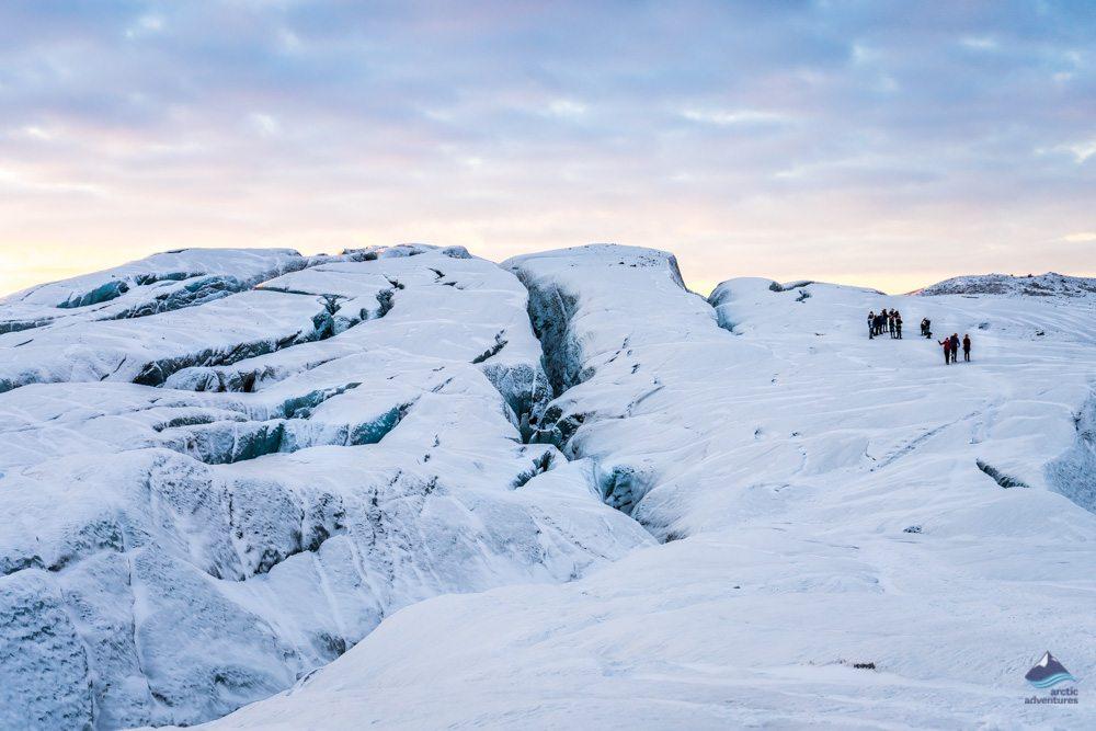 Glacier hik in winter in Iceland February