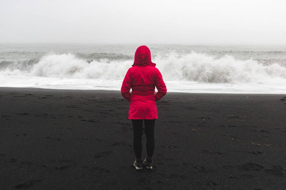 Female at Reynisfjara