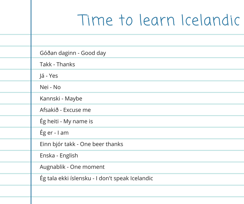 The Icelandic Language | All About Icleland
