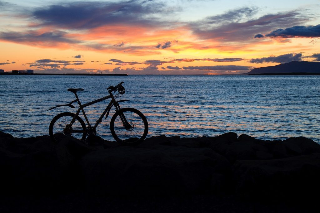 Biking around Reykjavik