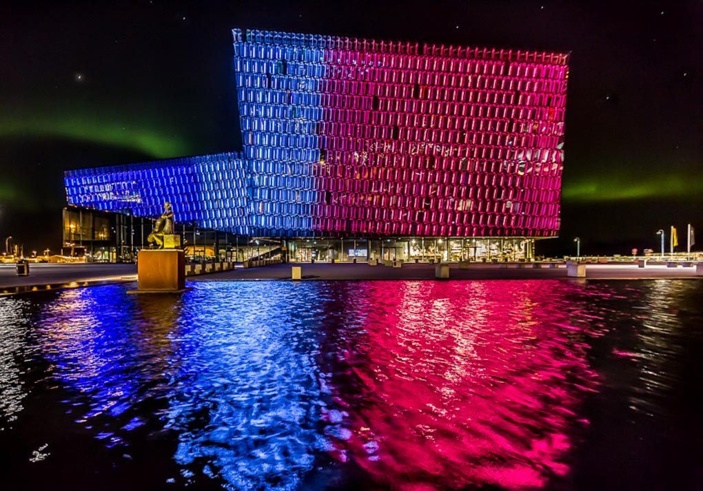 Harpa Musical Hall in winter