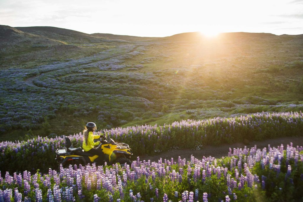 ATV ride in the midnight sun