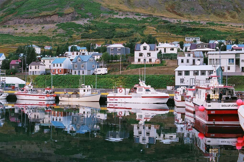 Siglufjordur town North Iceland