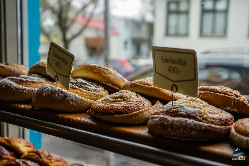 Buns at Braud & co. Reykjavik Bakery