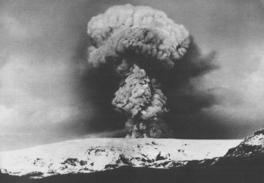 Katla Volcano Eruption, Iceland 1918