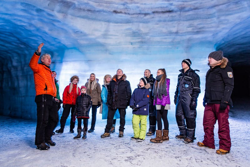 Langjokull Ice Cave Into the Glacier